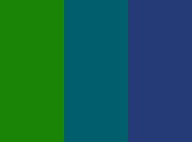 Grün / Petrol / Blau